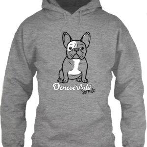 Denevérfülű sármőr francia bulldog – Unisex kapucnis pulóver