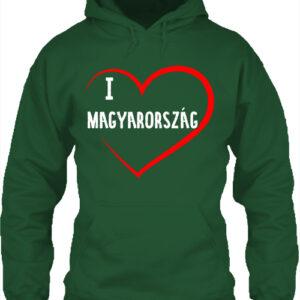 I love Magyarország- Unisex kapucnis pulóver