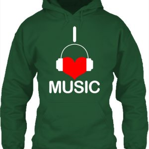 I love music – Unisex kapucnis pulóver