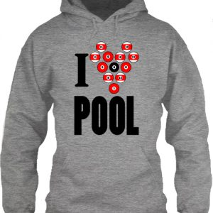 I love pool – Unisex kapucnis pulóver