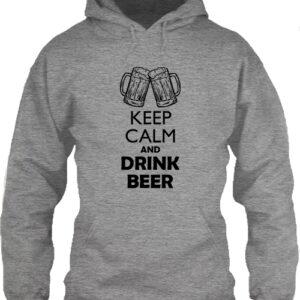 Keep calm beer sör – Unisex kapucnis pulóver