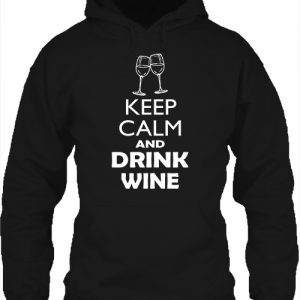 Keep calm bor – Unisex kapucnis pulóver