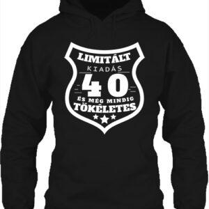 Limitált kiadás 40 – Unisex kapucnis pulóver