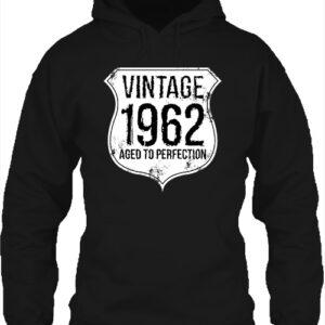 Vintage 1962 szülinapos – Unisex kapucnis pulóver