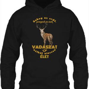 Suhog az erdő szarvas vadászat – Unisex kapucnis pulóver