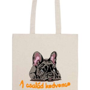 A család kedvence francia bulldog – Basic hosszú fülű táska