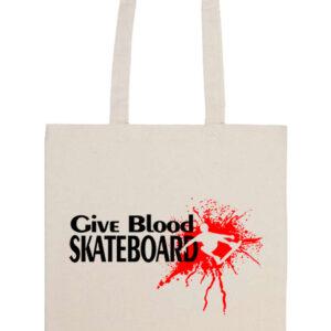 Give blood skateboard gördeszka – Prémium hosszú fülű táska