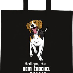 Hallom de nem érdekel beagle – Basic rövid fülű táska