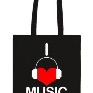 I love music – Prémium hosszú fülű táska