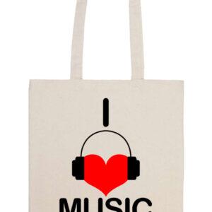 I love music – Basic hosszú fülű táska