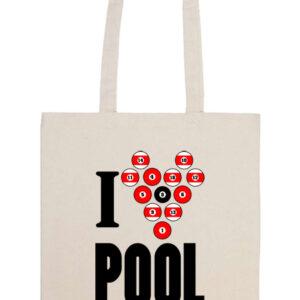 I love pool – Prémium hosszú fülű táska