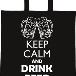 Keep calm beer sör – Basic rövid fülű táska