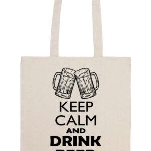 Keep calm beer sör – Prémium hosszú fülű táska