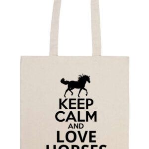 Keep calm and love horses lovas – Prémium hosszú fülű táska