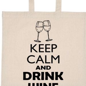 Keep calm bor – Basic rövid fülű táska