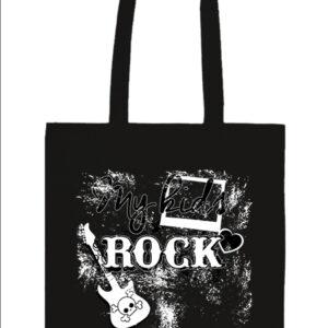 My kids rock zene – Basic hosszú fülű táska
