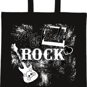 My kids rock zene – Basic rövid fülű táska
