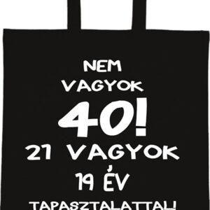 Születésnap 40 – Basic rövid fülű táska