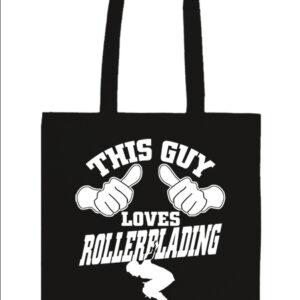 This guy loves rollerblading görkorcsolya – Prémium hosszú fülű táska