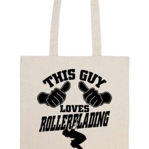 This guy loves rollerblading görkorcsolya – Basic hosszú fülű táska