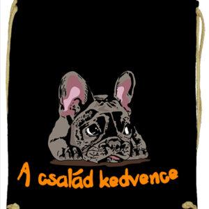 A család kedvence francia bulldog – Prémium tornazsák