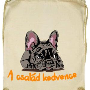 A család kedvence francia bulldog – Basic tornazsák