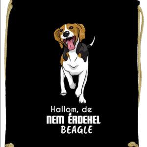 Hallom de nem érdekel beagle – Prémium tornazsák