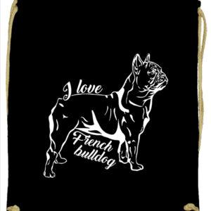 I love french bulldog francia bulldog- Basic tornazsák
