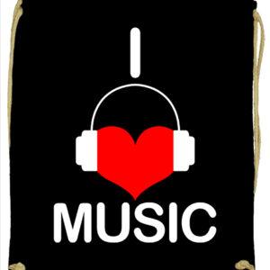 I love music – Prémium tornazsák