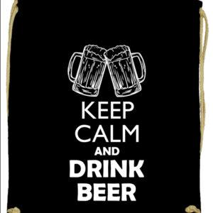 Keep calm beer sör – Prémium tornazsák