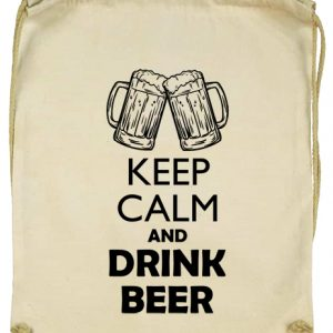 Keep calm beer sör- Basic tornazsák