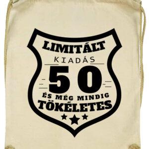 Limitált kiadás 50- Basic tornazsák