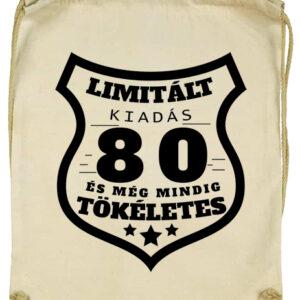 Limitált kiadás 80- Basic tornazsák