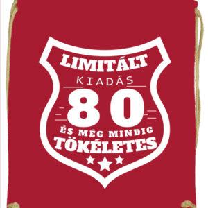 Limitált kiadás 80 – Prémium tornazsák