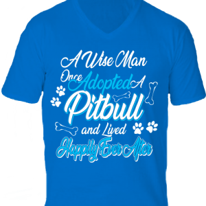 Adopted pitbull -Férfi V nyakú póló