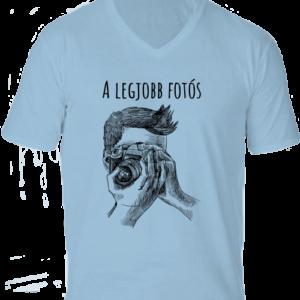 A legjobb fotós 1 – Férfi V nyakú póló