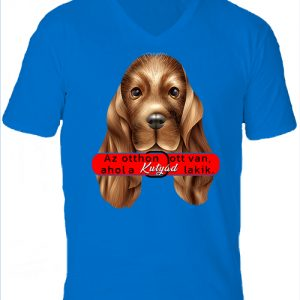 Otthon ahol a kutya-Férfi V nyakú póló