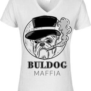 Buldog maffia- Női V nyakú póló