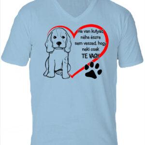 Ha van kutyád-Férfi V nyakú póló