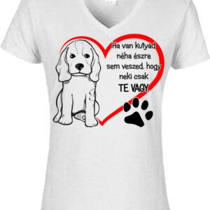 Ha van kutyád- Női V nyakú póló