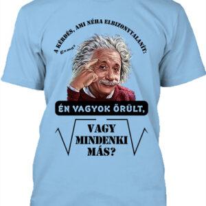 Mindenki őrült Einstein- Férfi póló