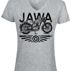 Jawa- Női V nyakú póló