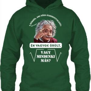 Mindenki őrült Einstein – Unisex kapucnis pulóver