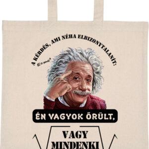 Mindenki őrült_Einstein – Basic rövid fülű táska