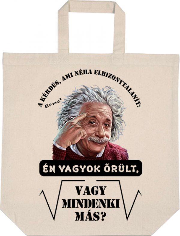 Táska Mindenki őrül Einstein natúr