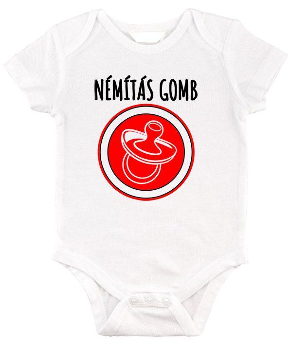 Baby body Némítás gomb lány