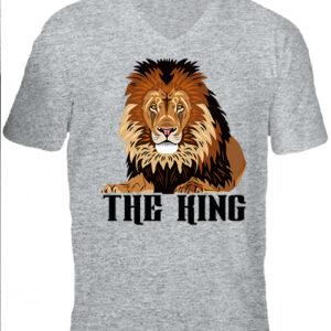 The king-Férfi V nyakú póló