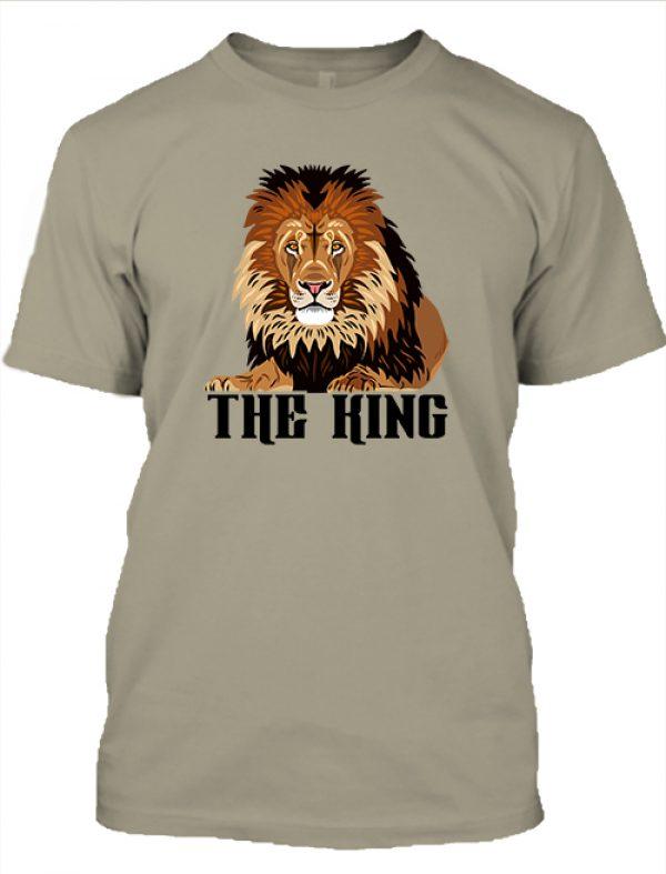 Férfi póló The king khaki