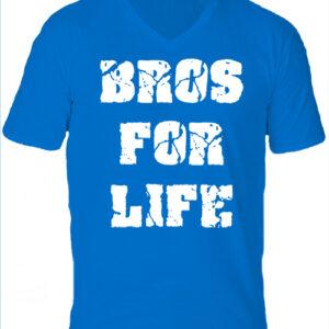 Bros for life-Férfi V nyakú póló