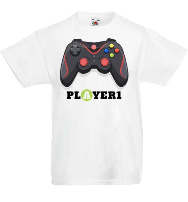 Gyerek póló Player 1 fehér